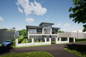 Luxueuze vrijstaande villa 3D impressie Almere Vogelhorst | Olof Architects